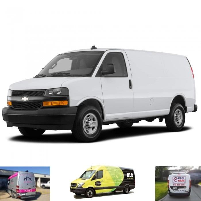 Express Graphic Wrap Chevrolet Cargo Van