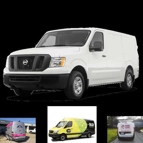 Nissan NV 1500 Full Cargo Van Wrap