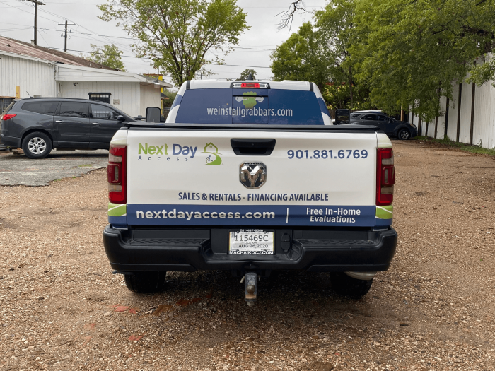 RAM 1500 Half Pickup Truck Wrap Houston TX