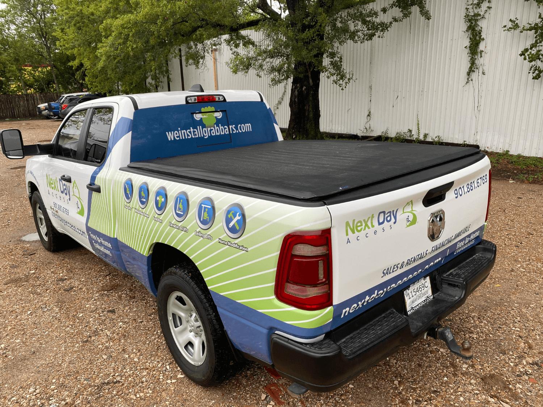 Half Pickup Truck RAM 1500 Wrap Houston TX