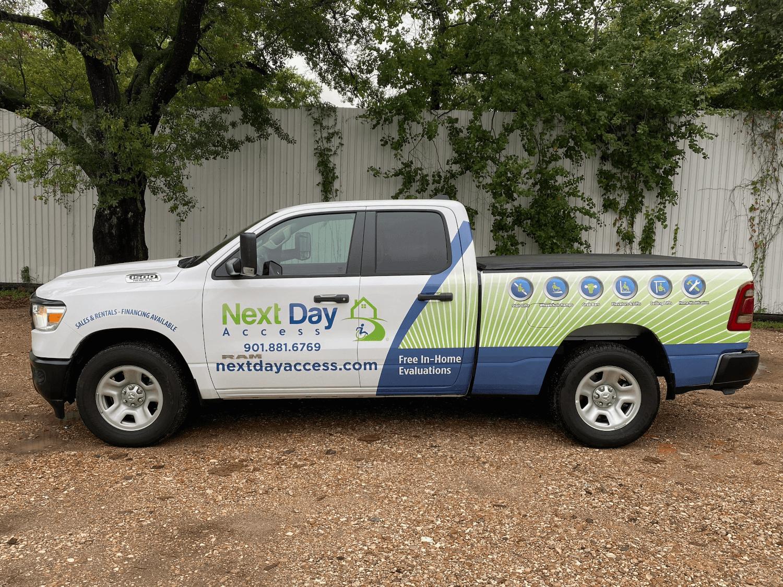 Dodge RAM 1500 Pickup Truck Half Wrap Houston TX