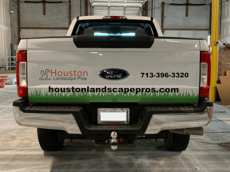 Pickup Truck Bed Wrap Landscape Partial Wrap Houston TX