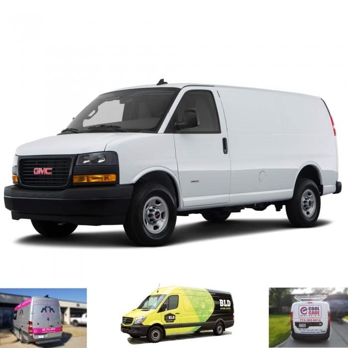 Savana Graphic Wrap GMC Cargo Van