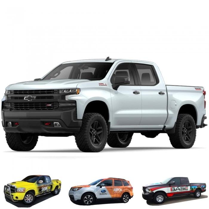 Silverado Graphic Wrap Chevrolet Pickup Truck