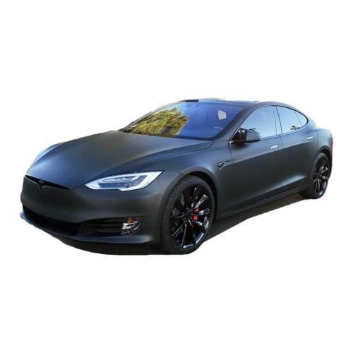 Tesla Model S Sport Car Color Change -3M Vinyl Wrap Matte