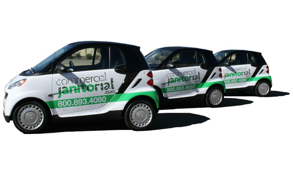 Fleet Graphic Wrap Smart Car