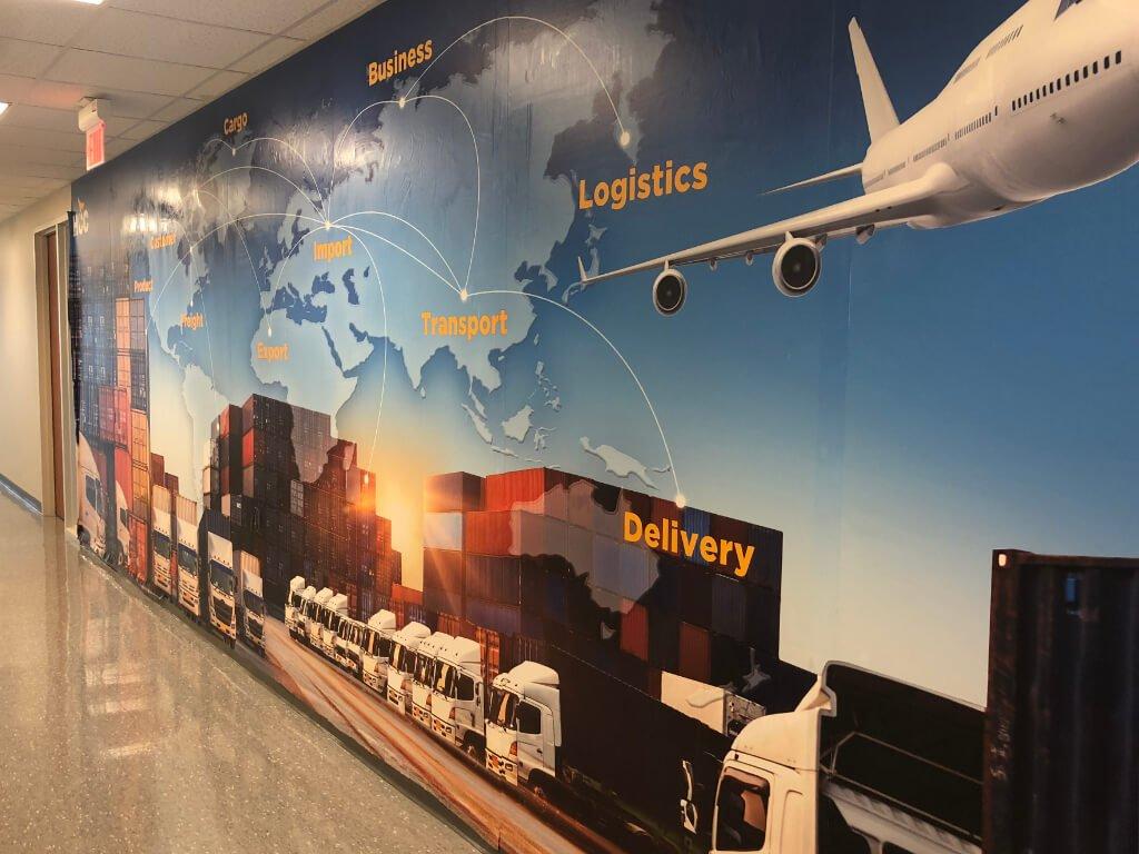 Interior Wall Graphic Wrap Houston