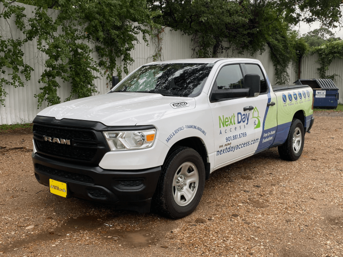 Dodge Ram 1500 Half Pickup Truck Wrap Houston TX