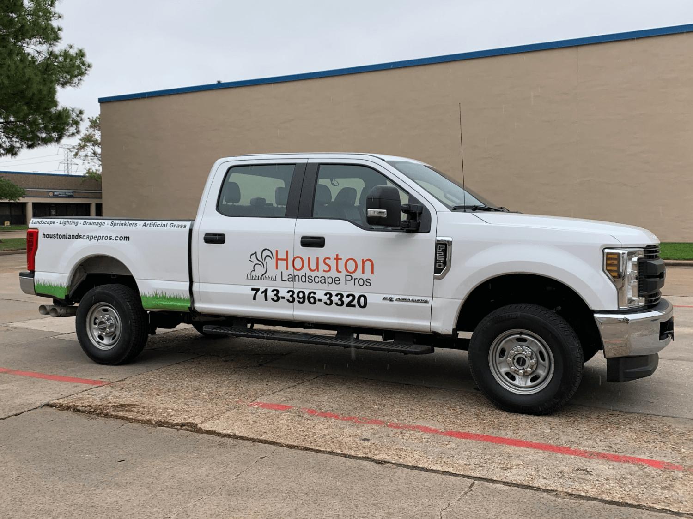 Pickup Truck Wrap Landscaper Partial Wrap Houston TX