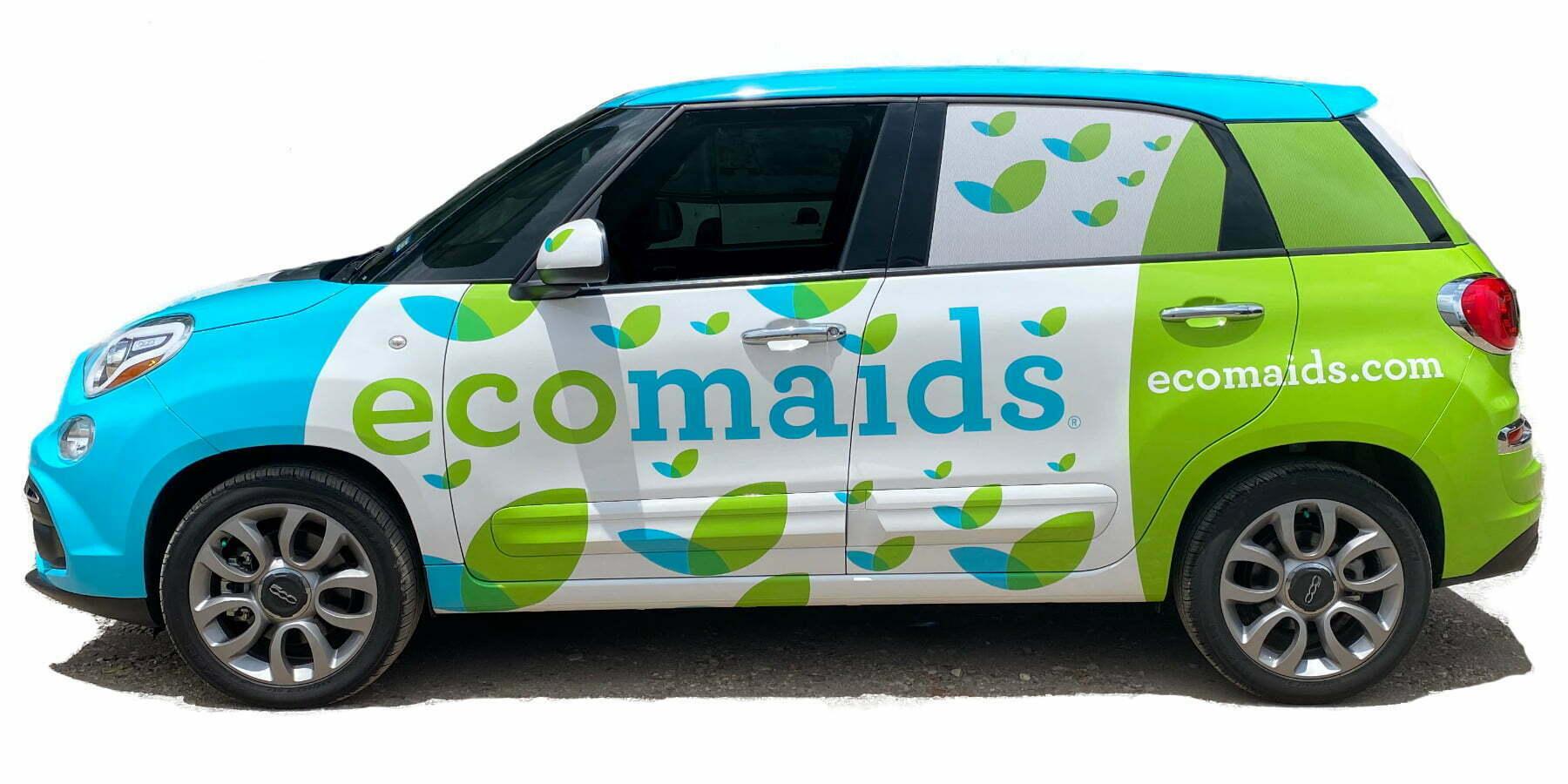 Fiat Full Car Wrap Houston Graphics AtoZ Ecomaid